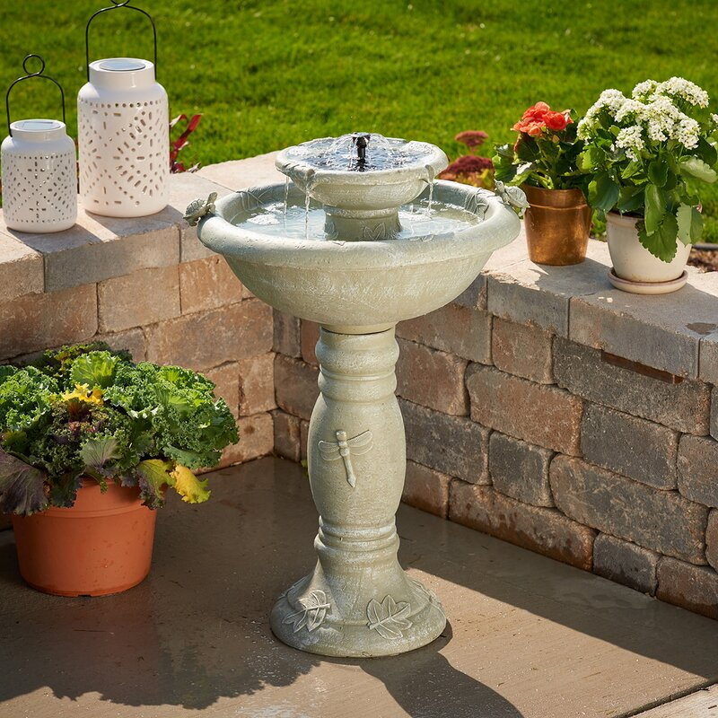 Resin Solar Country Gardens Two Tier On Demand Fountain