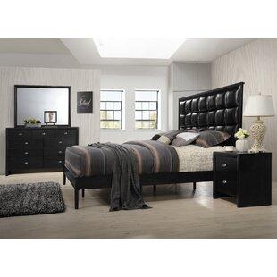 Roundhill Furniture Gloria Platform 4 Piece Bedroom Set
