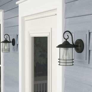 Searching for Steinmetz 1-Light Outdoor Wall Lantern (Set of 2) By Alcott Hill