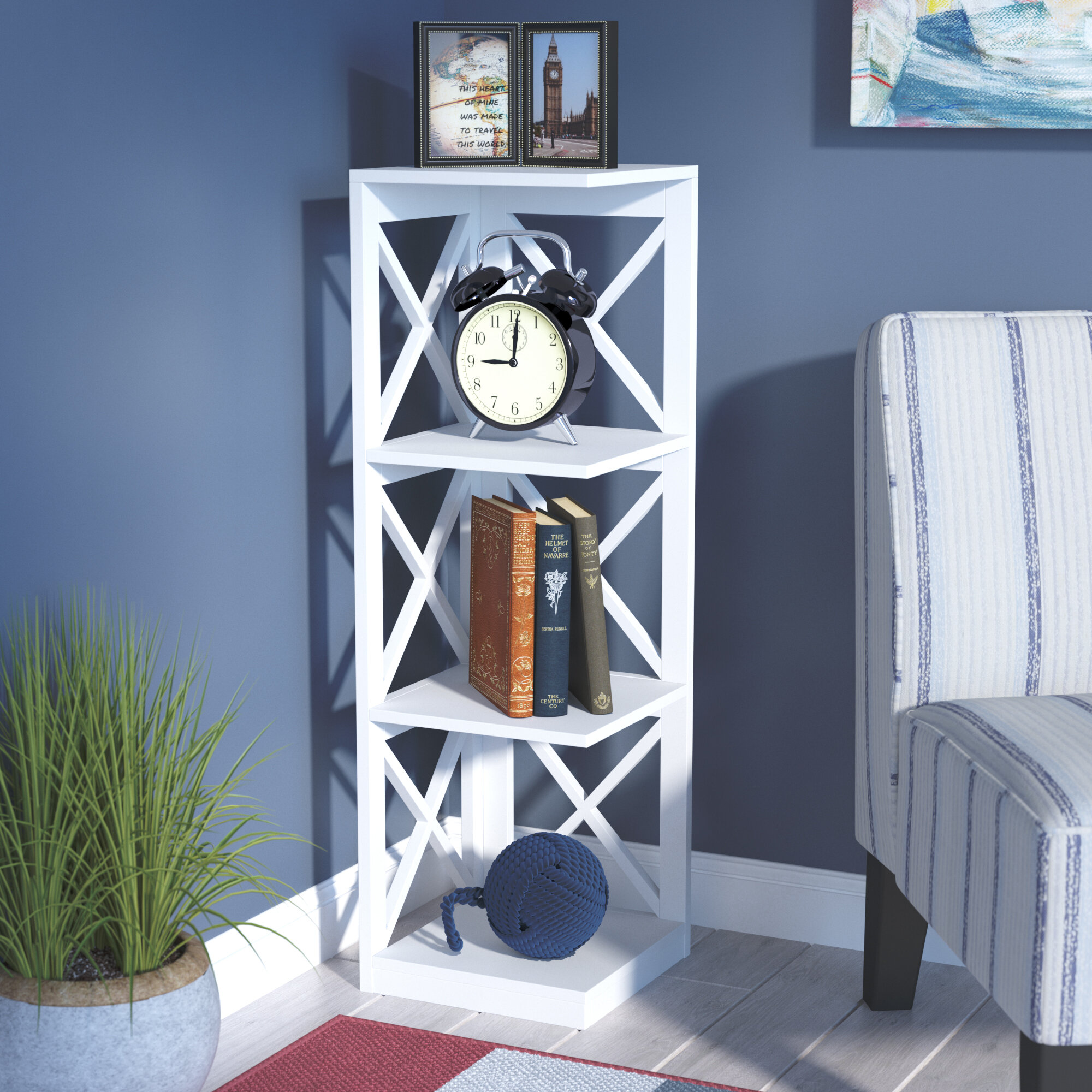Beachcrest Home Stoneford Corner Unit Bookcase & Reviews | Wayfair