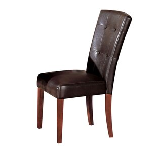 Winston Porter Malave Genuine Leather Upholstered Dining Chair (Set of 2)