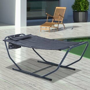 Patio Garden Sun Lounger Hammock With Stand By Freeport Park