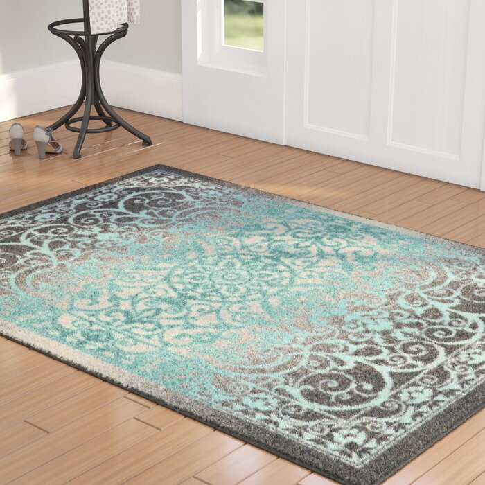 Landen Grey Blue Area Rug
