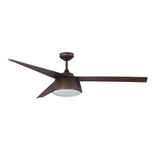 60 Nebulon 3-Blade Celling Fan with Wall Remote By Kendal Lighting