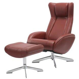 Orren Ellis Castle Swivel Lounge Chair and Ottoman