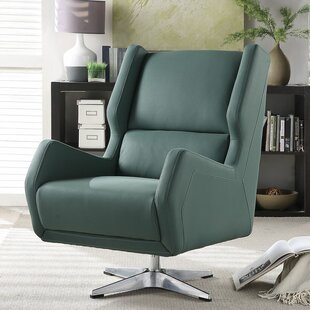 Orren Ellis Winningham Swivel Wingback Chair