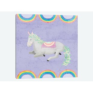 192f1f5f9abd4  Rainbow Unicorn IV  Graphic Art on Canvas