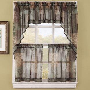Eden Sheer Window Swags Set Of 2