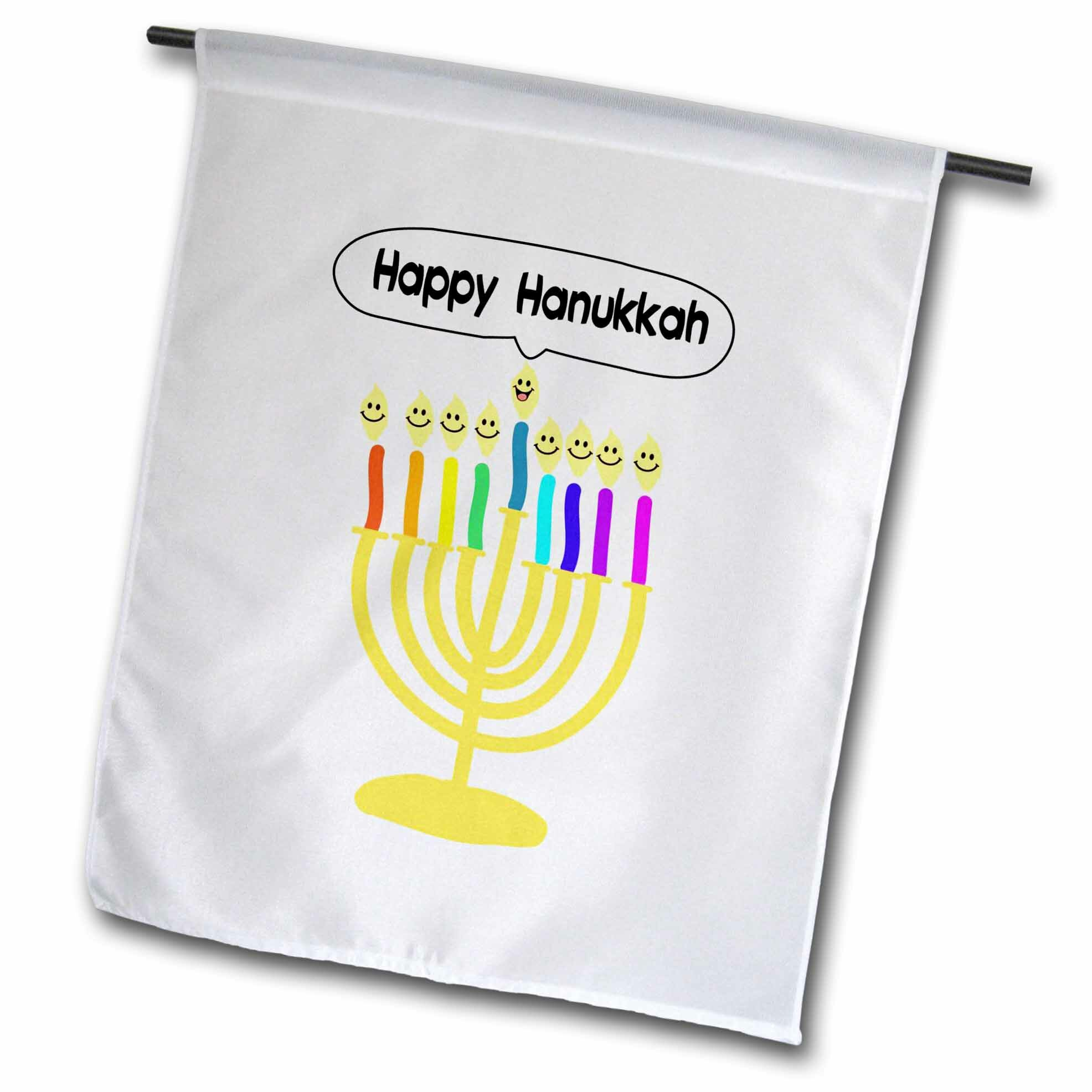 3drose Happy Hanukkah Smiley Menorah Polyester 27 X 18 In Garden Flag Wayfair