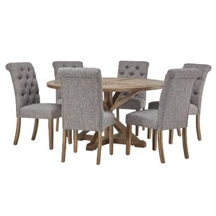 Peralta Rustic X-Base 7 Piece Dining Set Lark Manor