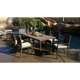 Heffington Modern 7 Piece Dining Set with Cushion