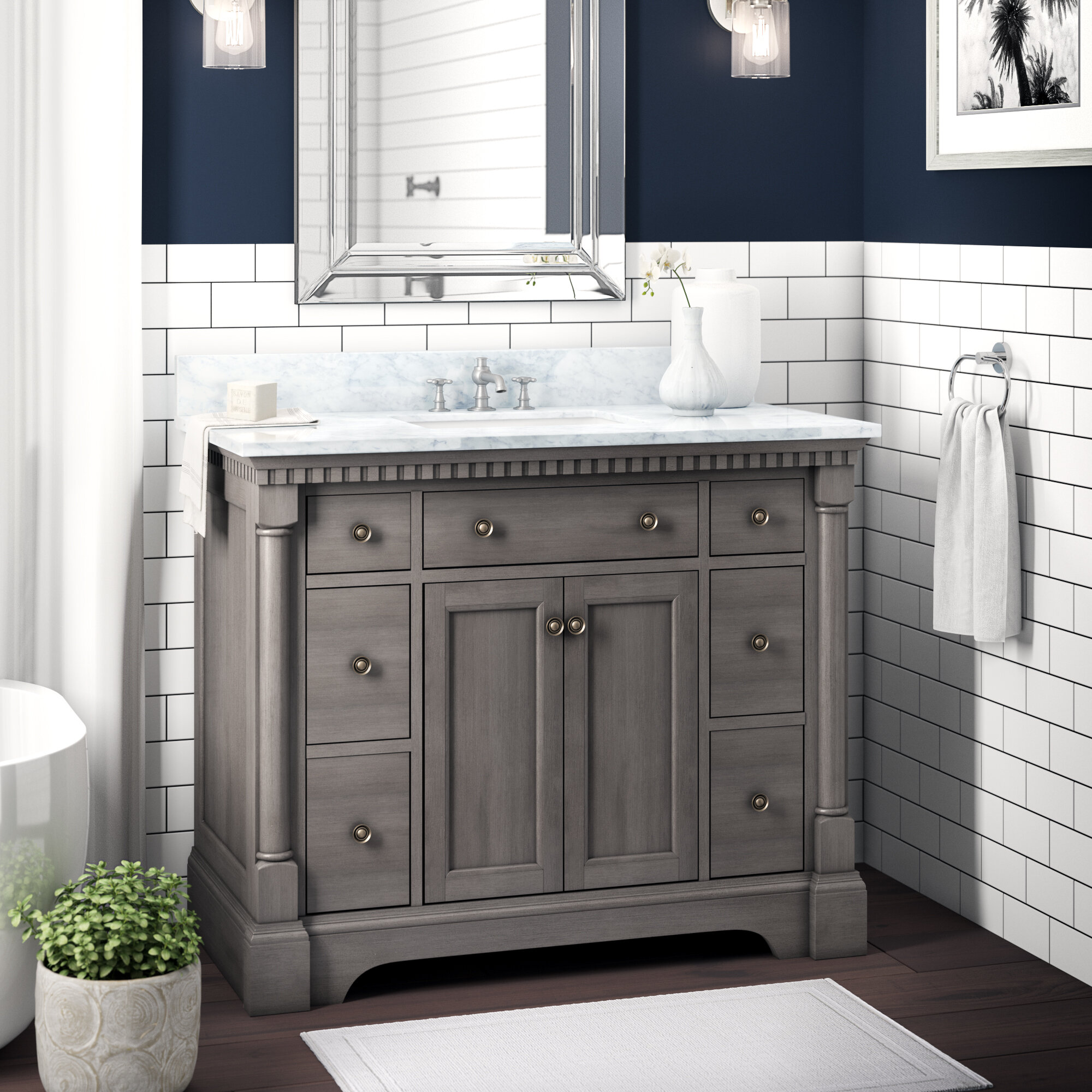 Greyleigh Seadrift 42 Single Bathroom Vanity Set Reviews Wayfair