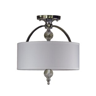 Brooklana 2-Light Semi Flush Mount by Rosdorf Park
