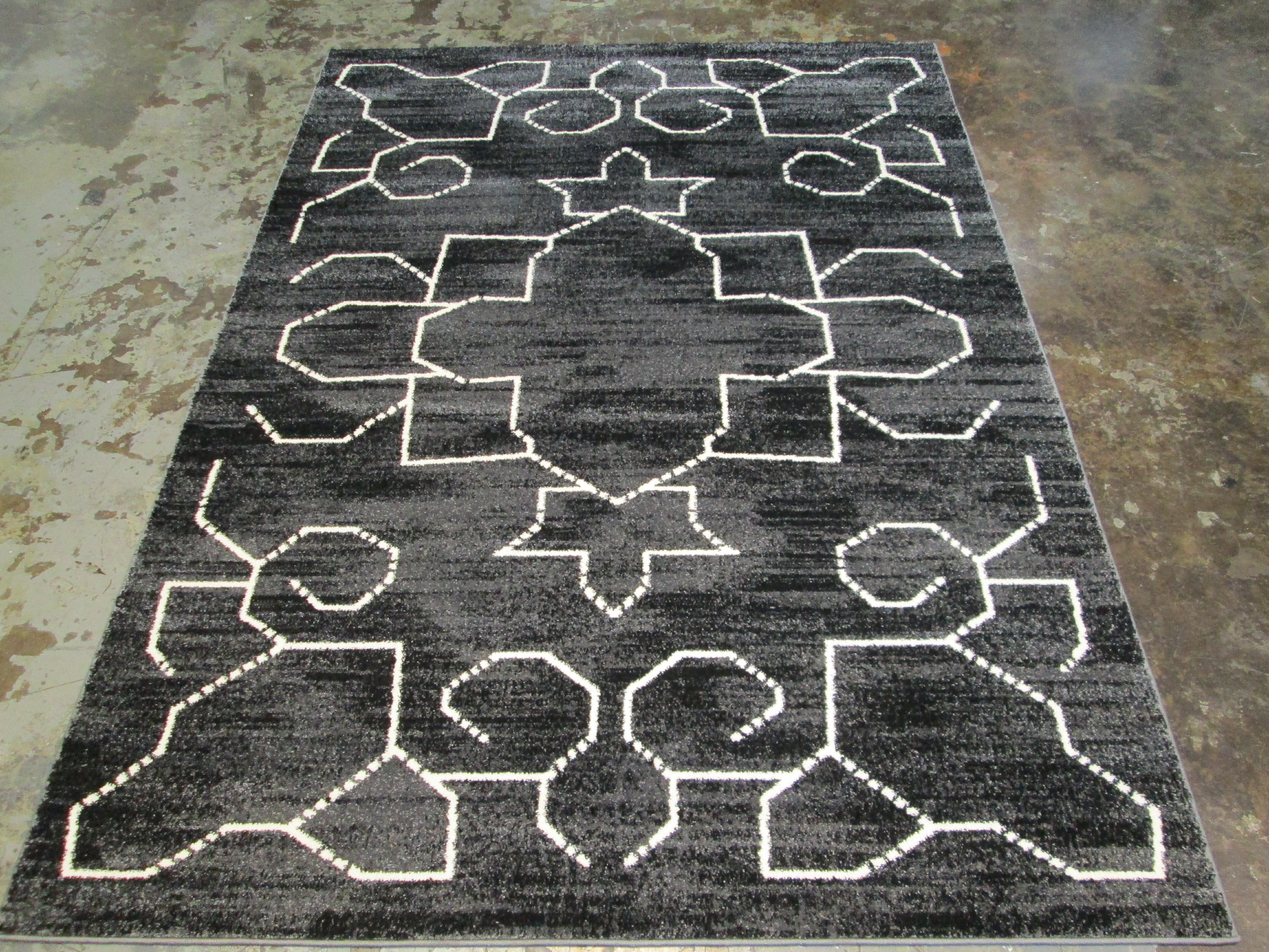 Foundry Select Annette Large Black White Area Rug Wayfair