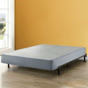 Alwyn Home Huxley High Profile Box Spring with Heavy Duty Steel Slat Mattress Foundation Fits Standard Bed Frame
