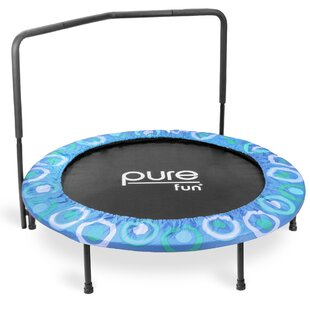 Pure Fun Super Jumper 4' Round Trampoline with Safety Enclosure