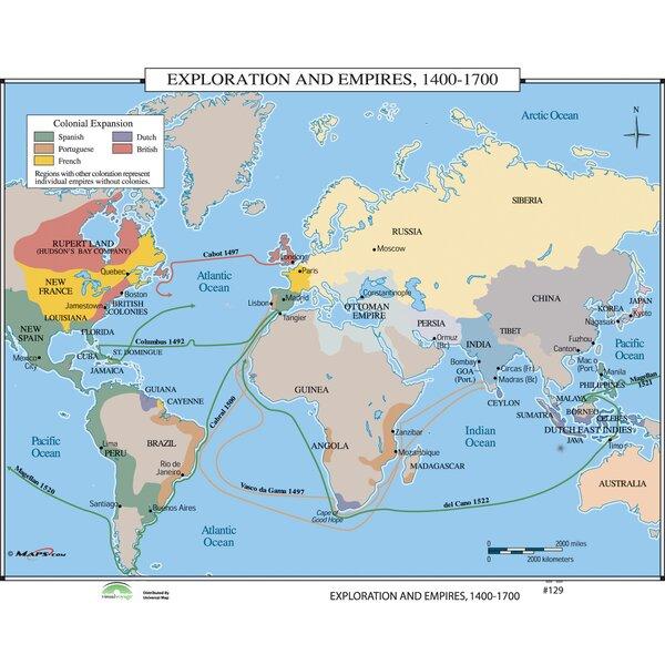 Universal Map World History Wall Maps - Exploration & Empires 1400 ...