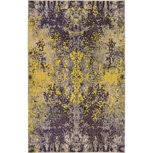 Affordable Fujii Gray/Yellow Area Rug By Bungalow Rose