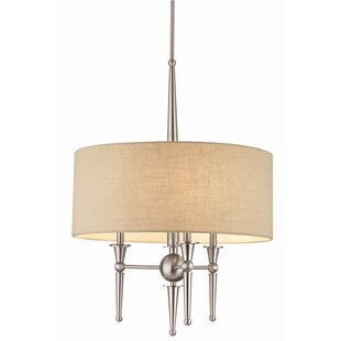 Charlton Home Wickerham 3-Light Drum Chandelier