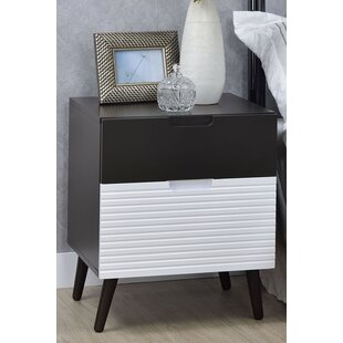 Kirtin 2 Drawer Nightstand