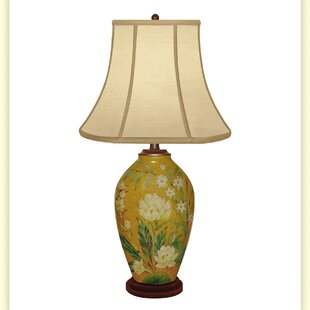 Reviews Clove Bud Hand Painted Porcelain 29 Table Lamp By JB Hirsch Home Decor