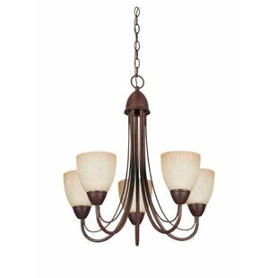 Fleur De Lis Living Callicoat 5-Light Shaded Chandelier
