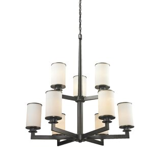 Breakwater Bay Crumley 9-Light Shaded Chandelier