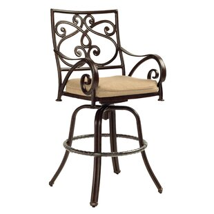 Lucerne Cast Swivel Patio Bar Stool by Leona Cool