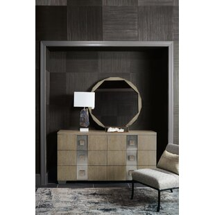 Mosaic 6 Drawer Double Dresser with Mirror