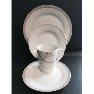 Payer Round Rim 16 Piece Dinnerware Set, Service For 4 by Winston Porter Sale