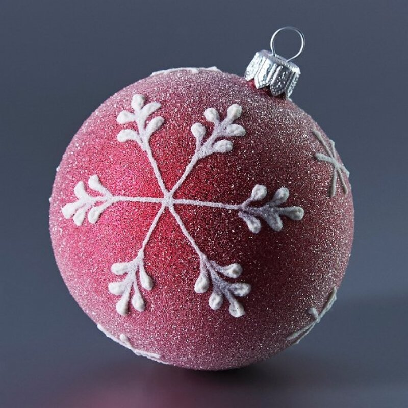 The Holiday Aisle Frosted Purple With Snowflakes Ball Ornament Wayfair