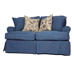 Coral Gables T-Cushion Loveseat Slipcover Set