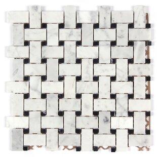 e1bec745f9 Bianco Carrara Basket Weave Polished Mosaic Tile