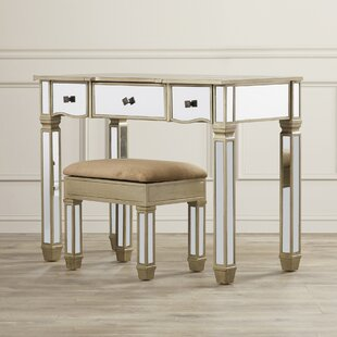 Wilson Vanity Set with Mirror by House of Hampton