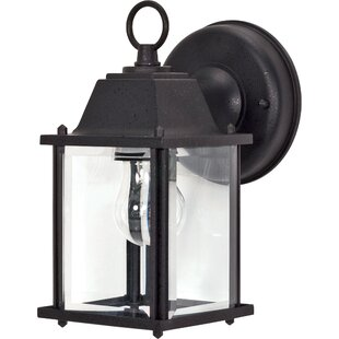 Highland Dunes Caldecott Cube 1-Light Outdoor Wall Lantern