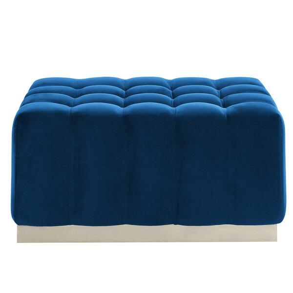 Amazing Modern Contemporary Royal Blue Velvet Ottoman Allmodern Lamtechconsult Wood Chair Design Ideas Lamtechconsultcom