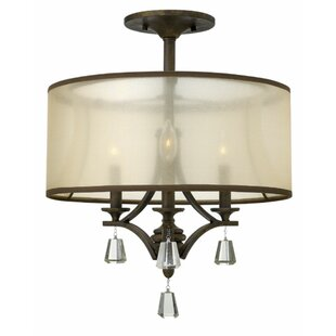 Carlock 3-Light Semi Flush Mount by Red Barrel Studio
