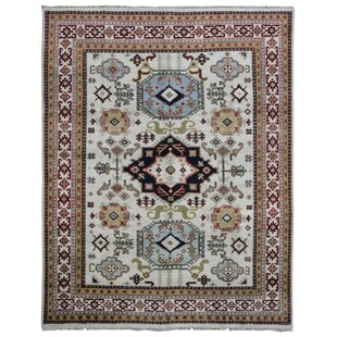 Find the perfect One-of-a-Kind Crabtree Kazak Hand-Woven Wool Beige/Blue/Black Area Rug By Isabelline