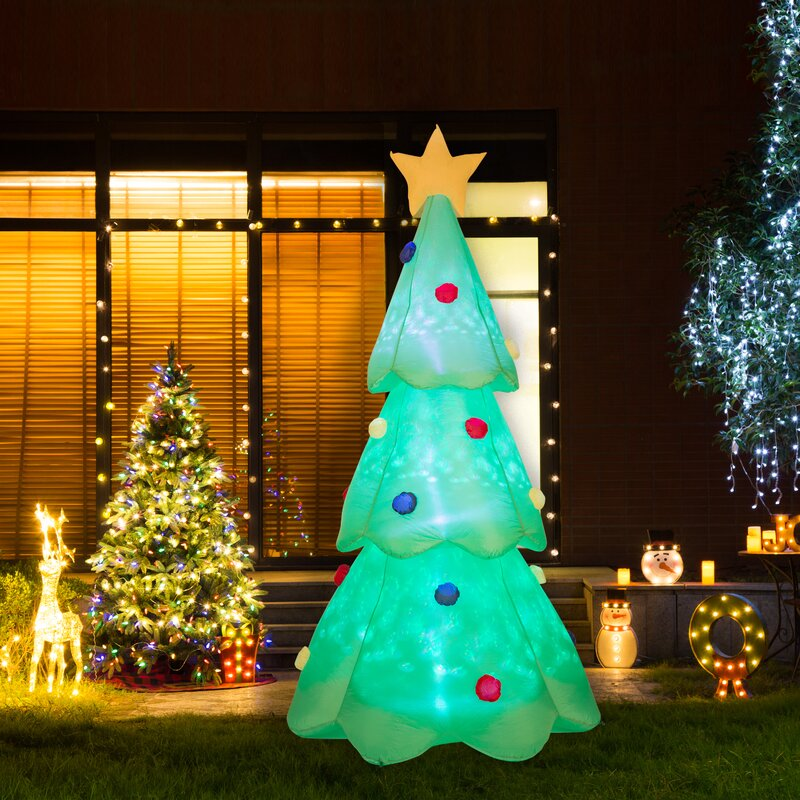 Lighted Christmas Tree Decor Inflatable