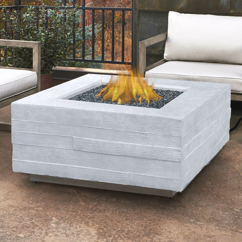 Awesome Board Form Propane Outdoor Fire Pit Table