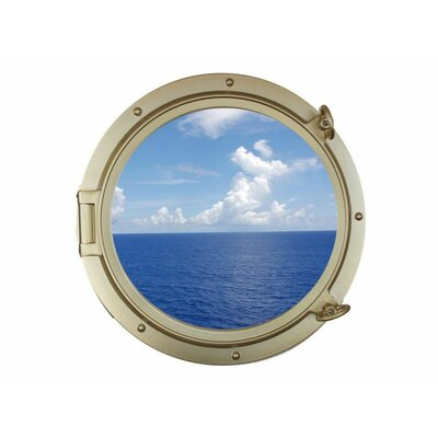"Handcrafted Nautical Decor Decorative Ship Porthole Window Wall Décor Size: 24"" H x 24"" W x 4.5"" D"