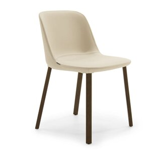 Esse Genuine Leather Upholstered Dining Chair by Pianca USA