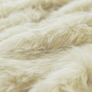 Iced Fox Faux Fur Throw Blanket