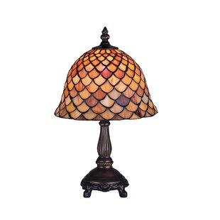 Meyda Tiffany Tiffany Fishscale Mini Table Lamp in Mahogany Bronze