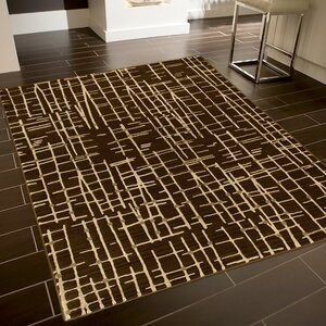 Lines Chocolate Area Rug