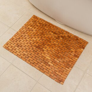 Chips Wood Bath Rug