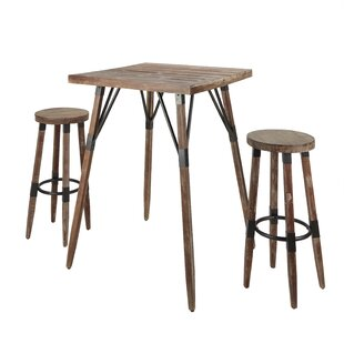 Ponder 3 Piece Pub Table Set Williston Forge