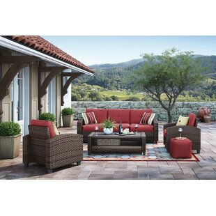 Slavin 4 Piece Sofa Set with Cushions by Alcott Hill
