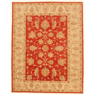 Clennell Hand Knotted Wool Red/Beige Rug by Rosalind Wheeler