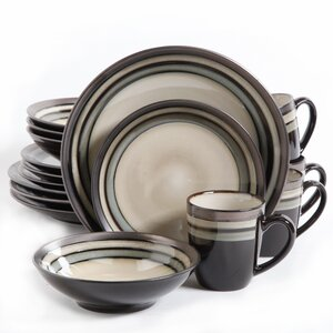 Lakemore 16 Piece Dinnerware Set, Service for 4